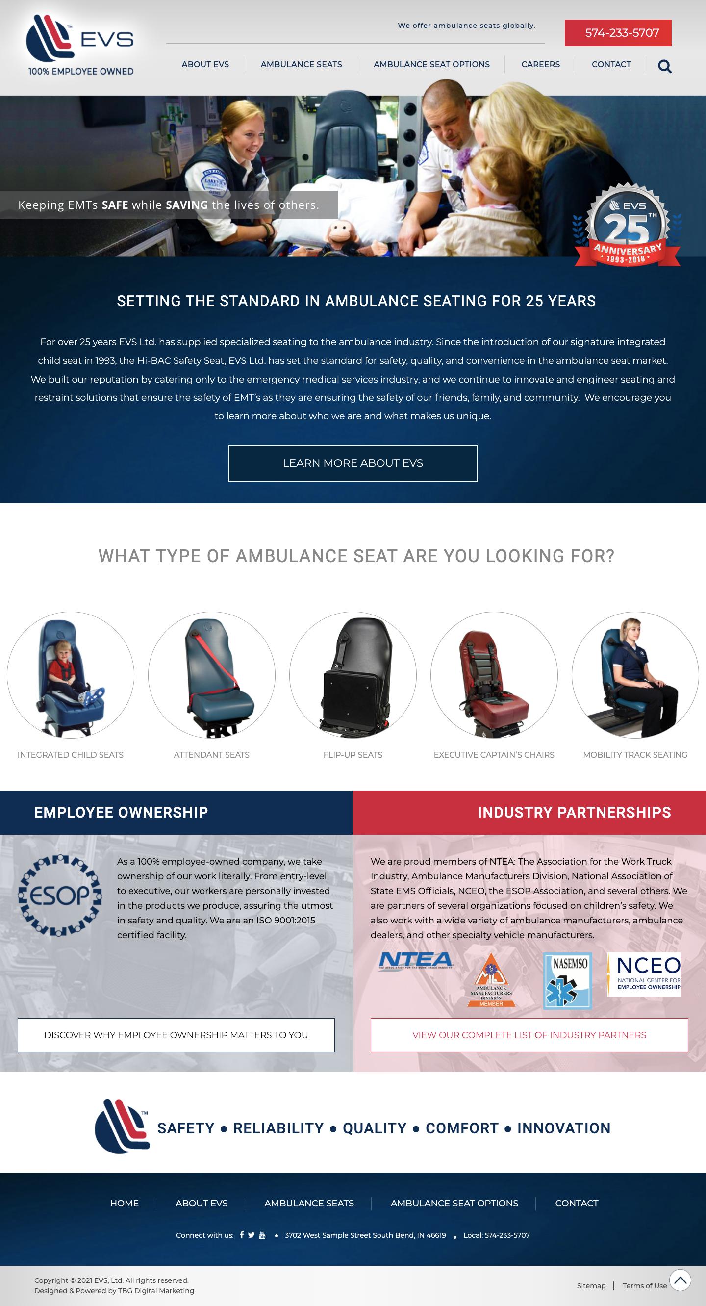 Emergency Vehicle Seatin Website