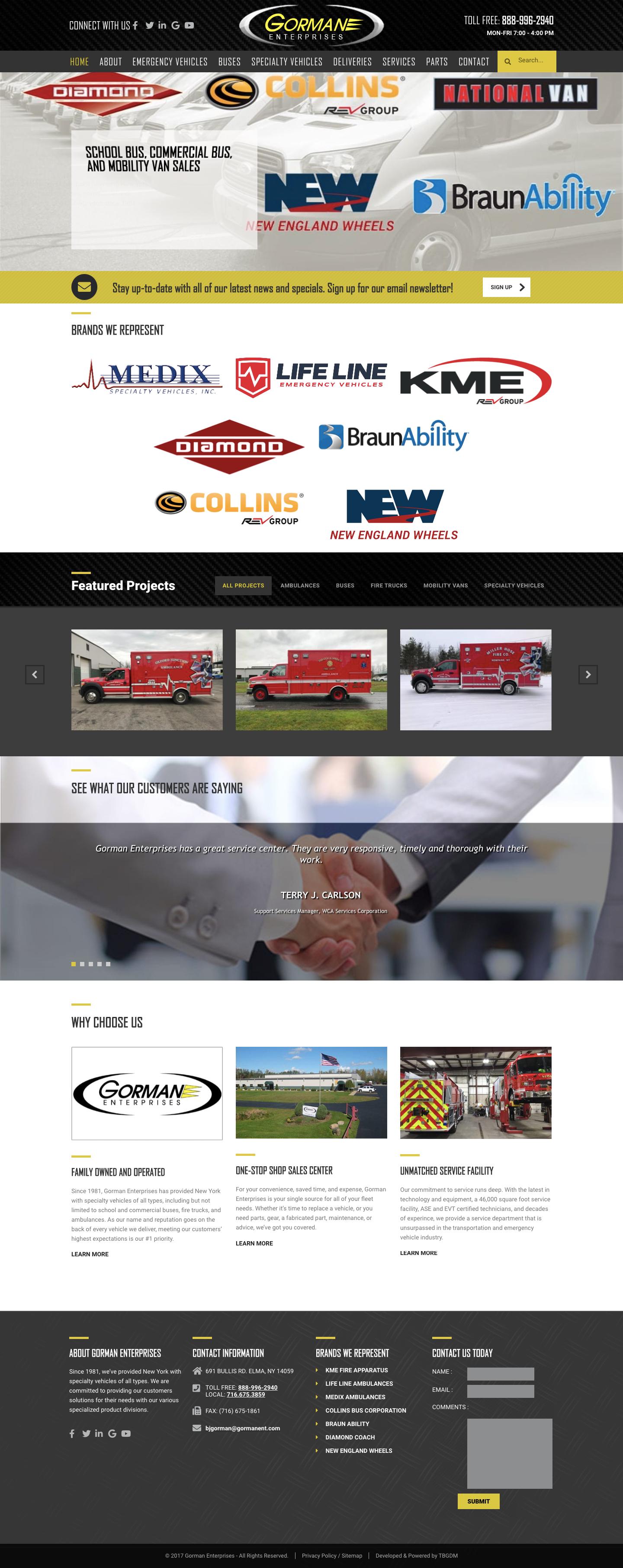 Gorman Enterprises Website