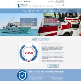 Mermaid Manufacturing Website Redesign